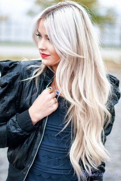 Стрижки на длинные волосы блондинок