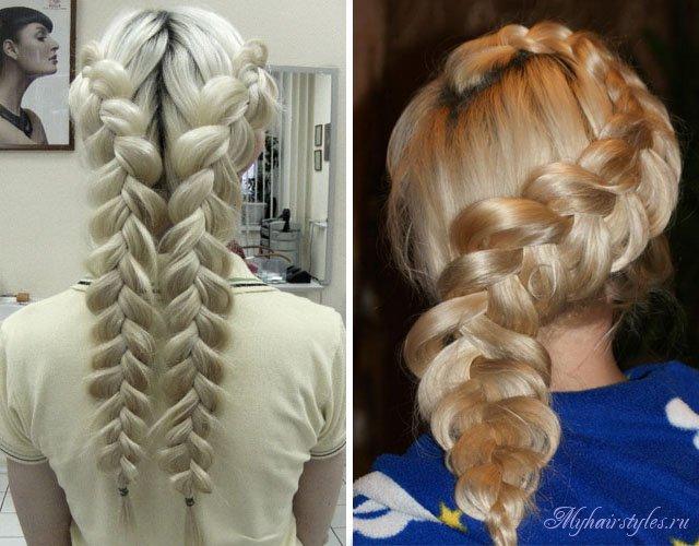 Виды Волховская ОбоВолховская Французская коса наоборот фото плетения