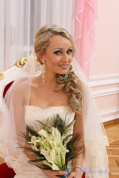 Свадебные прически на лесенку фото